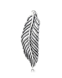 Pandora Design Pandora Pendant Sterling Silver And Cubic Zirconia Light As A Feather Silver Clear