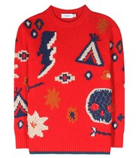 Coach Wool And Cashmere Blend Sweater Red