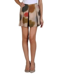 Jil Sander Navy Mini Skirts Beige