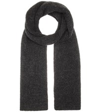 Etoile Isabel Marant Genoa Alpaca Wool And Linen Blend Scarf Grey