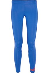 Adidas By Stella Mccartney 7 8 Tight Climalite Stretch Leggings Bright Blue