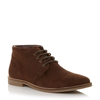 Howick Harley Suede Lace Up Desert Boot Brown