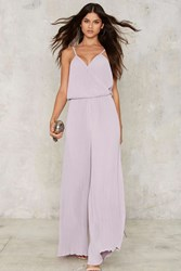 Glamorous Hancock Pleated Jumpsuit Purple