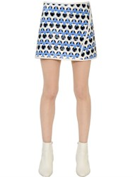 Courreges Woven Effect Vinyl Skirt With Cutouts