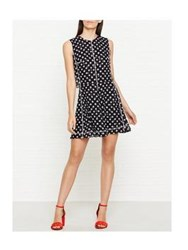 Mcq By Alexander Mcqueen Overlock Polka Dot Dress Black White Black White