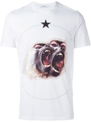 Givenchy 'Monkey Brothers' Printed T Shirt White