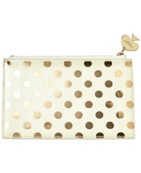 Kate Spade New York Gold Dots Pencil Pouch Cream Gold