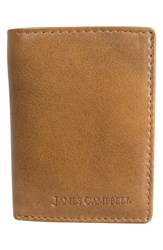 James Campbell Men's Leather Wallet Brown Tan