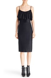 Women's Givenchy Pleated Off The Shoulder Ruffle Dress