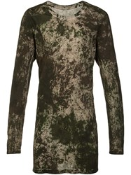 11 By Boris Bidjan Saberi Long Sleeve T Shirt Green