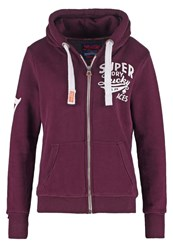 Superdry Tracksuit Top Fig Bordeaux