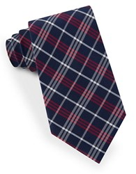 Lord And Taylor Plaid Striped Tie Red