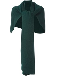 Cedric Charlier Ribbed Scarf Green