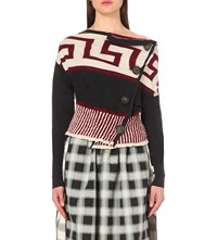 Anglomania Concordia Knitted Cardigan Greek Red
