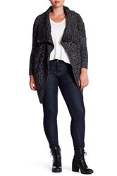 Research And Design Melange Chunky Drape Cardigan Plus Size Gray