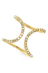 Louise Et Cie Micro Pave Ring Gold Crystal