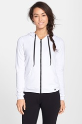 Trina Turk Recreation Mesh Back Terry Hoodie White