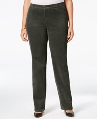 Charter Club Plus Size Tummy Control Corduroy Pants Only At Macy's Autumn Sage