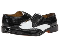 Giorgio Brutini Caster Black White Men's Lace Up Wing Tip Shoes