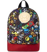 A Bathing Ape Milo Canvas Backpack Red