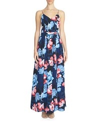 1.State Floral Maxi Dress Navy Multi