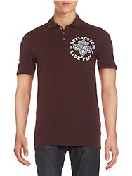 Affliction Royale Graphic Polo Shirt Multi