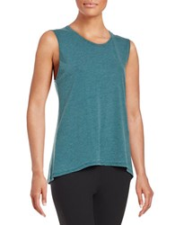 Betsey Johnson Cotton Blend Tank Top Jungle Teal