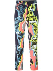 Versace 'Jagged Baroque' Cropped Trouser Multicolour