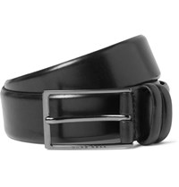 Hugo Boss 3.5Cm Black Carmello Leather Belt Black