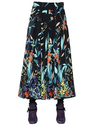 Antonio Marras Floral Printed Cady Palazzo Pants Black Multi