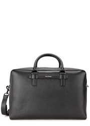 Dolce And Gabbana Black Saffiano Leather Holdall