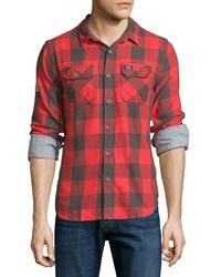 Superdry Flanagan Plaid Forest Shirt Red Check