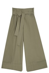 Adam By Adam Lippes Gaucho Trousers Green