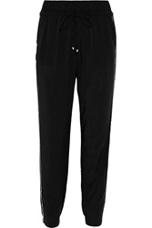 Splendid Piped Woven Pants Black
