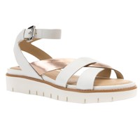 Geox Darline Cross Strap Sandals Light Gold Leather