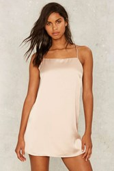 Crossed Off Sleep Slip Dress Beige Pink