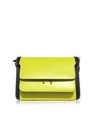 Marni Acid And Coffee Leather Trunk Bag Yellow
