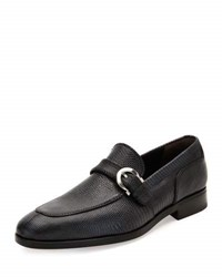 Salvatore Ferragamo Finn 2 Lizard Gancio Buckle Loafer Graphite