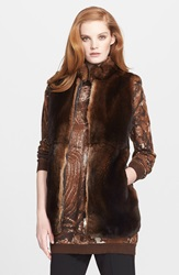 Max Mara 'Samovar' Genuine Rabbit Fur Vest