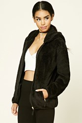 Forever 21 Fuzzy Hooded Jacket