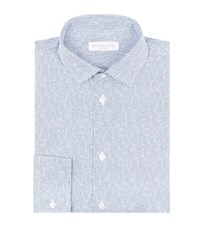 Richard James Pixelated Jacquard Shirt Male Blue