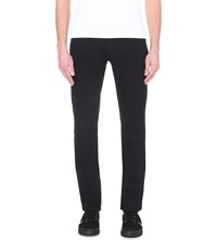 The Kooples Mid Rise Straight Leg Jeans Black Brut