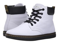 Dr. Martens Maelly Padded Collar Boot White Canvas Women's Lace Up Boots