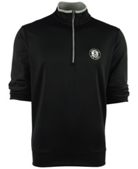 Antigua Men's Brooklyn Nets Leader Pullover Black Silver