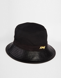 King Apparel Script Bucket Hat Black