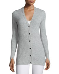Rag And Bone Rag And Bone Alexandra Ribbed Cashmere Cardigan Light Gray Size X Small Light Grey