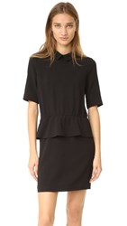 Ganni Clark Ruffle Dress Black