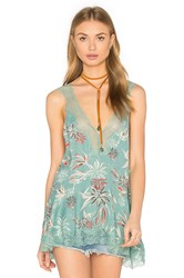 Free People Bellflower Tunic Top Turquoise