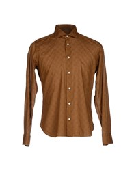 Tonello Shirts Shirts Men Camel