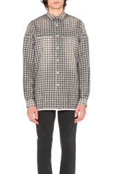 Stampd Area Shirt In Gray Checkered And Plaid Gray Checkered And Plaid